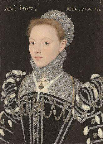 Susan Bertie, Countess of Kent - Portrait of Susan Bertie by the Master of the Countess of Warwick, 1567