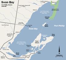 Duck Island--Swan bay map