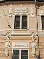 Székesfehérvár Post Office No. 1 facade, detail. - 16, Kossuth St., Downtown, Székesfehérvár, Fejér County, Hungary.JPG