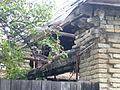 Szeged-Felsőváros Kakuszy-ház (Csaba utca 34.) tornác állapota 2013-09-10.JPG