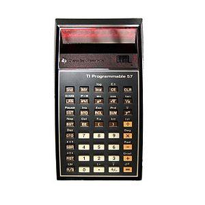 TI-57 - The programmable calculator TI-57 with LED display