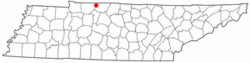 Location of Adams, Tennessee