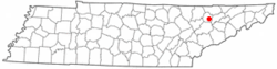 Location of Maynardville, Tennessee