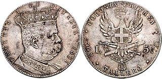 Eritrean tallero currency of Eritrea between 1890 and 1921