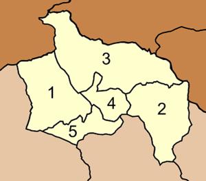 Khok Charoen District - Map of Tambon