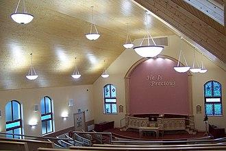 Free Presbyterian Church of Ulster - Interior of Tandragee Free Presbyterian Church