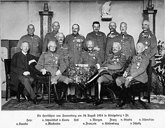 Curt von Morgen - The leaders of Tannenberg on 24 August 1924 in Königsberg (Prussia)