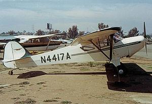Taylorcraft F-21 - Taylorcraft F-21A, built in 1984, at Montgomery Field, San Diego in 1990.