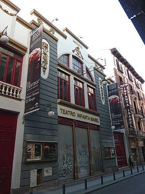 English: Façade of Teatro Infanta Isabel (a th...