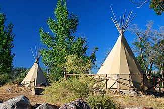 Teepees at Lake Owyhee State Park (Malheur County, Oregon scenic images) (malDA0184).jpg