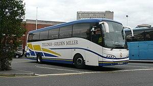Julian Peddle - Tellings-Golden Miller Caetano Enigma bodied Volvo B12B in Woking in October 2009