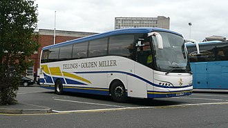 Julian Peddle - Tellings-Golden Miller Caetano Enigma bodied Volvo B12B in Woking in October 2009