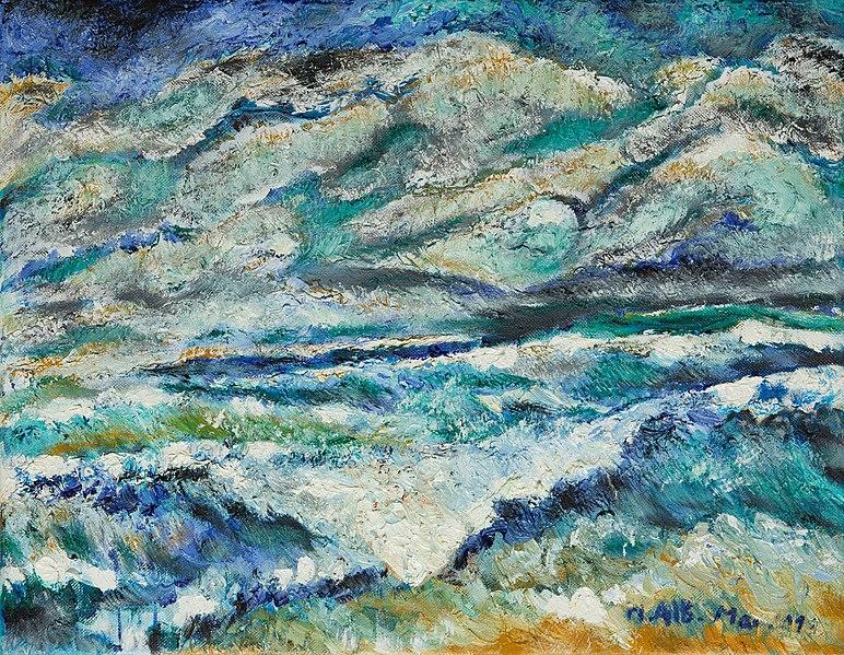 Fichier:Tempête et rage. Peinture à l'huile. Mohamed Aib, mai 2001..jpg
