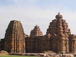 Vikramaditya II - Kashivisvanatha Temple (left) and Mallikarjuna Temple (right)
