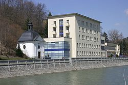 Spa building and hotel