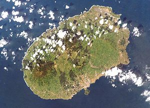 Jácome Ratton - Terceira Island seen from the Space Shuttle