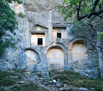Termessos - Rock cut tombs along main road into Termessos