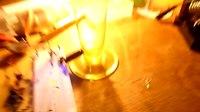 File:Testing homemade Geiger counter with a uranium glass vase.webm