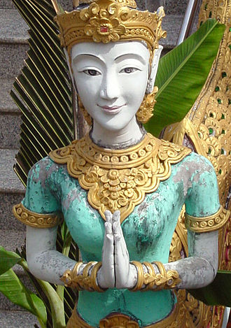 Namaste - Statue in a Thai temple