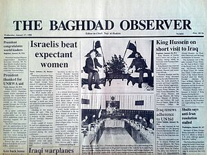 Naji Sabri - Image: The Baghdad Observer 27th January 1988