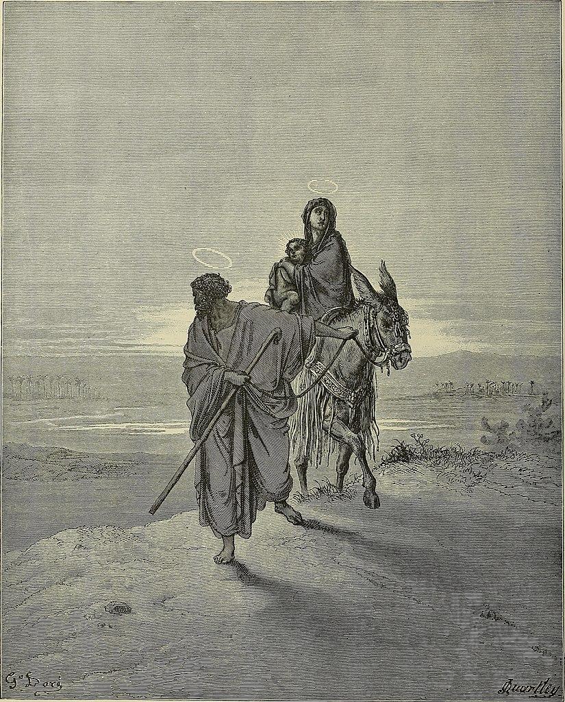 이집트로 피신 (귀스타브 도레, Gustave Dore, 1865년)