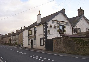 Long Preston - The Boar's Head, once a coaching inn serving travellers on the turnpike