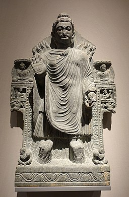 The Buddha shows Miracles, Gandhara, 3rd century AD, schist - Ethnological Museum, Berlin - DSC01646