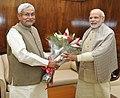 The Chief Minister of Bihar, Shri Nitish Kumar calls on the Prime Minister, Shri Narendra Modi, in New Delhi on December 10, 2015.jpg