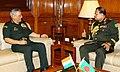 The Chief of Army Staff, Bangladesh Army, General Aziz Ahmed meeting the Chief of Army Staff, General Bipin Rawat, in New Delhi on August 01, 2018.JPG