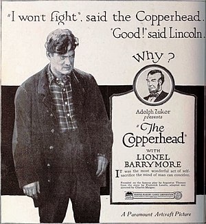 The Copperhead - 1920 print advertisement for film