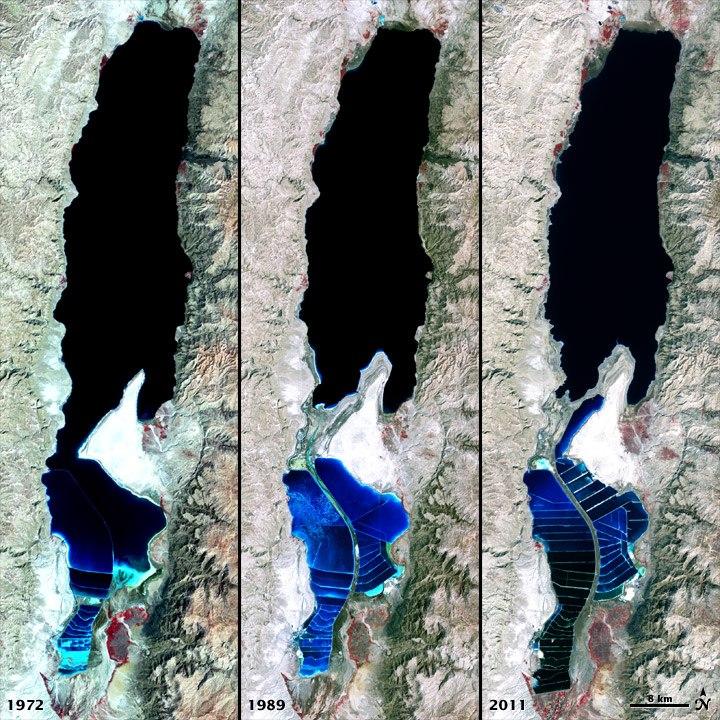 The Dead Sea 1972-2011 - NASA Earth Observatory