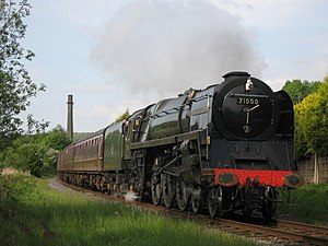 BR Standard Class 8 - No 71000 Duke of Gloucester on the East Lancashire Railway