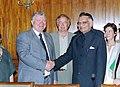 The European Parliamentary delegation calls on the Union Minister for Home Affairs Shri Shivraj Patil in New Delhi on June 24, 2004.jpg
