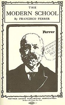 La escuela moderna, deFrancisco Ferrer, traducida porVoltairine de Cleyreen 1909.