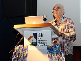 The Oscar winning Editor, Hollywood, Alan Heim at the Master Class on Film Editing, during the 47th International Film Festival of India (IFFI-2016), in Panaji, Goa on November 27, 2016.jpg