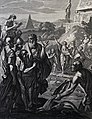 The Phillip Medhurst Picture Torah 303. Waters of the Nile turned into blood. Exodus cap 7 vv 10-11. Caspar Luyken.jpg
