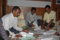 The Polling Officials checked the election materials for the use in the 5th phase of General Election-2009, at Mallital polling station, in Nainital, Uttarakhand on May 12, 2009.jpg