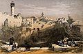 The Pool of Bethesda, Jerusalem, Israel. Coloured lithograph Wellcome V0012778.jpg