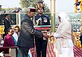 The President, Shri Ram Nath Kovind giving away the gallantry award Ashoka Chakra to 12974389N Lance Naik, Nazir Ahmad Wani, Bar to Sena Medal, the J&K Light Infantry, 34th Battalion the Rashtriya Rifles (Posthumously).jpg
