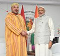 The Prime Minister, Shri Narendra Modi meeting the King Mohammed VI of Morocco, on the sidelines of the 3rd India Africa Forum Summit 2015, in New Delhi on October 29, 2015.jpg