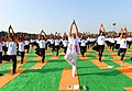 The Prime Minister, Shri Narendra Modi participates in the mass yoga demonstration, on the occasion of the 4th International Day of Yoga 2018, at the Forest Research Institute, in Dehradun, Uttarakhand on June 21, 2018 (1).JPG