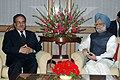 The Prime Minister of Nepal, Mr. Pushpa Kamal Dahal 'Prachanda' calling on the Prime Minister, Dr. Manmohan Singh, in New Delhi on November 12, 2008.jpg