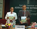 The Secretary (A&C), Ministry Of Agriculture, Shri T. Nanda Kumar releasing the publication, at the inauguration of the National Seminar on Agriculture Extension, in New Delhi on February 27, 2009.jpg