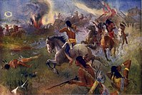 A painting of the attack on New Ulm.