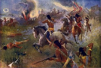 Sioux - Siege of New Ulm, August 19, 1862.