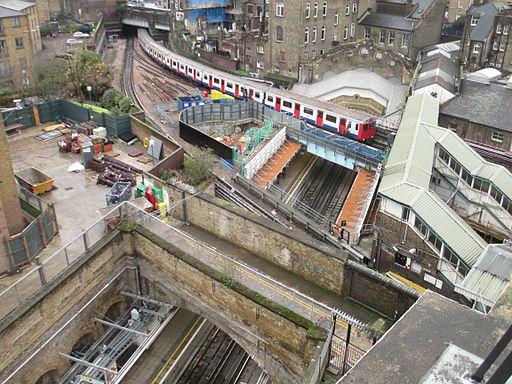 The Underground goes over the Overground at Whitechapel (11421351404)