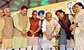"""The Union Home Minister, Shri Rajnath Singh lighting the lamp to inaugurate the """"2nd Agri Leadership Summit-2017"""", at Surajkund, in Faridabad district of Haryana.jpg"""