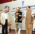 The Union Minister for Finance, Corporate Affairs and Information & Broadcasting, Shri Arun Jaitley lighting the lamp at the 31st Annual Conference of Principal Chief CommissionersPrincipal Directors General and Chief.jpg