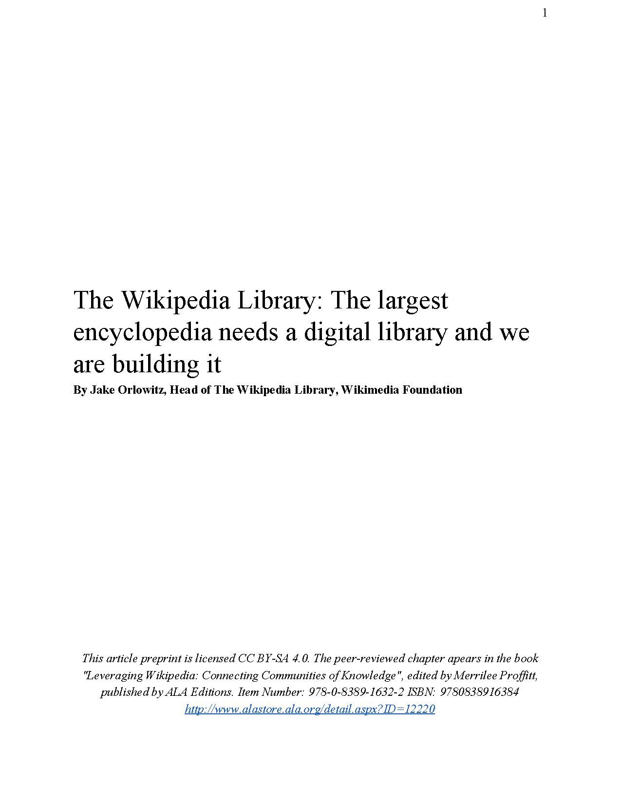 File:The Wikipedia Library-The largest encyclopedia needs a