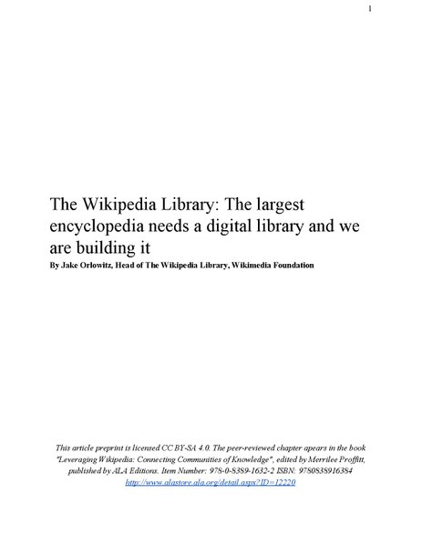 File:The Wikipedia Library-The largest encyclopedia needs a digital library and we are building it By Jake Orlowitz.pdf